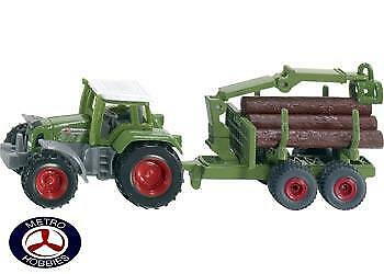 Siku Tractor with Forestry Trailer SI1645 Brand New