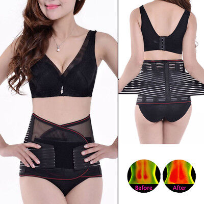 Lumbar & Lower Back Support Belt Brace Strap Pain Relief Posture Waist Trimmer