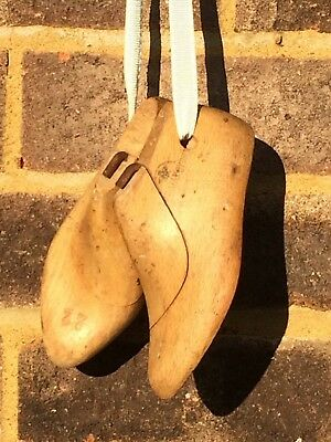 A Pair Of Vintage Wooden Shoe Lasts - Child Size