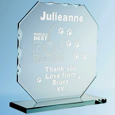 Engraved World S Best Dog Groomer Cut Glass Frame Personalised Thank