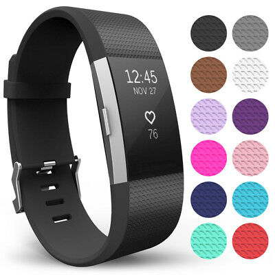 For Fitbit Charge 2 Replacement Silicone Watch Strap Wrist Band Bracelet Buckle