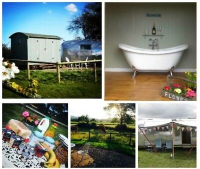 Short Break, 1night Stay at Ludlow Vintage Airstream with shepherds hut.