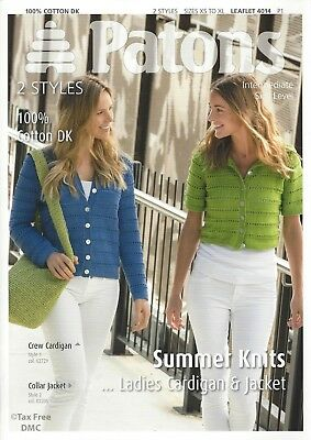 1f5b23d86 VAT Free Knitting PATTERN ONLY Patons Ladies Summer Jacket   Cardigan 4014  New