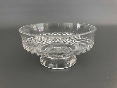 Antique Richards & Hartley, clear pressed glass compote BAR AND DIAMOND c.1891