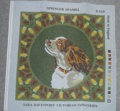 Springer Spaniel Dog Tapestry Needlepoint Canvas Only - New