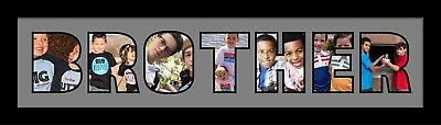 Brother Word Photo 3D Frame Personalised Name Frame | Perfect Gift For Brother