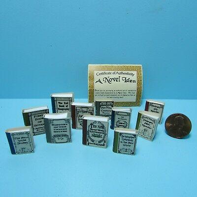 Dollhouse Miniature Antique School Book Set / Text Books ~ NI184