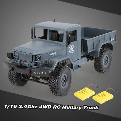 WPL B-1 1/16 2.4G 4WD Off-Road RC Military Truck Rock Crawler Army Car Two J3E2
