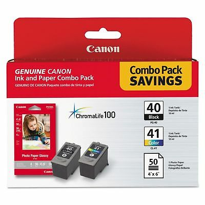 Canon PG-40/CL-41 Ink & Paper Combo Pack Ink Cartridge