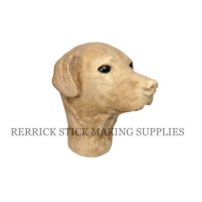 Brown Labrador Cast Resin Handle For Walking Stick Making