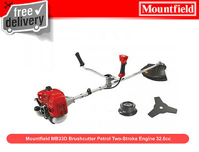 EX Mountfield MB33D Brushcutter Petrol Two-Stroke Engine 32.6cc