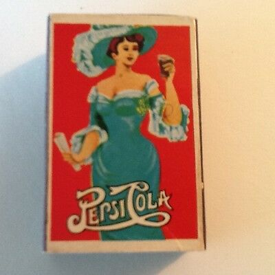 Vintage Pepsi Cola Old PEPSI Advertising Box for WOOD Matches from Japan (empty)