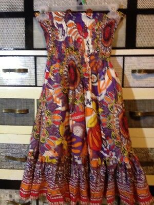 60dfb3e90ca Moda International Dress Strapless Size XS Floral Print Multi Color Knee  Length