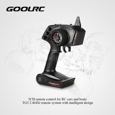 GoolRC TG3 2.4GHz 3CH Control Transmitter with Receiver for RC Car Boat USA Ship