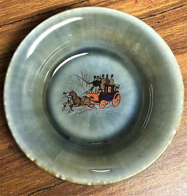 Vintage Wade Irish Porcelain~Horse Carriage Coach Plate EUC