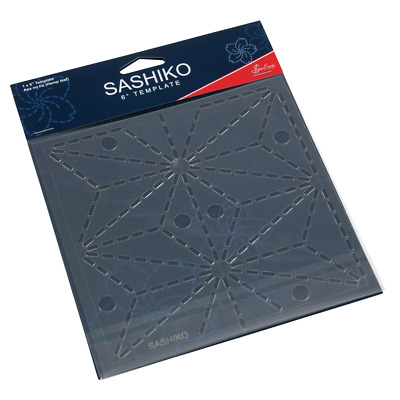 Sew Easy Sashiko Embroidery Template 6 x 6in Asa No Ha (Hemp Leaf ERS.006)