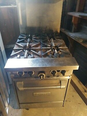 """Garland Commercial 4 Burner Gas Stove w Oven - 24"""" Space Saver - Local Pick UP!!"""