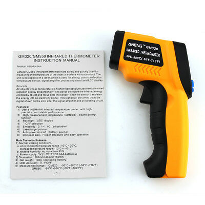 Handheld Non-Contact Digital Temperature Infrared Thermometer IR Laser Gun