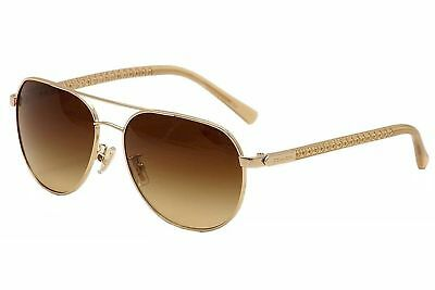 COACH Women's Light Gold/Brown Gradient Sunglasses 0HC7053
