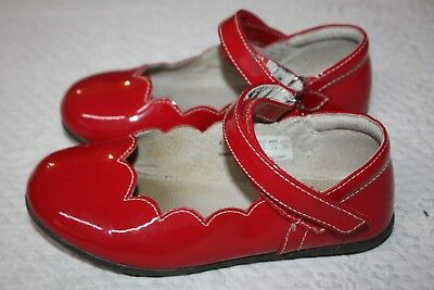 SEE KAI RUN Savannah Mary Jane Scalloped Red Patent Shoes Size 12 ... 3b403302dede