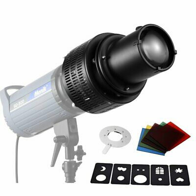 Strobe Optical Snoot + Color Card & Background Effect Slide Kit for Bowens Light