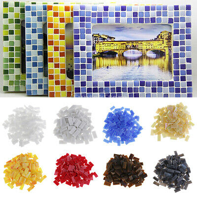 150pcs Rectangle Shape Glass Mosaic Tiles Pieces for Art DIY Crafts 10x20mm