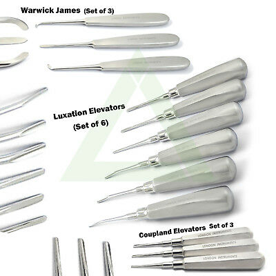 Dental Surgical Tooth Extraction Root Elevators Luxation Coupland Elevators