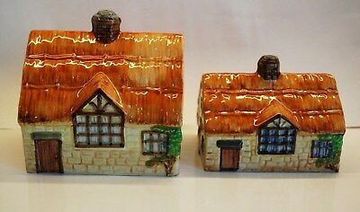 """BESWICK """"YE OLDE COTTAGE WARE"""" CHEESE DISH TOP & BUTTER DISH TOP (No plates)"""