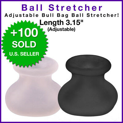 """Bull Bag Ball Stretcher Weight Silicone Enhancer Male Chastity Device Belt 3"""""""