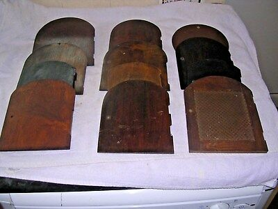 Clock  Parts , 12  Mantel  Clock  Back  Doors