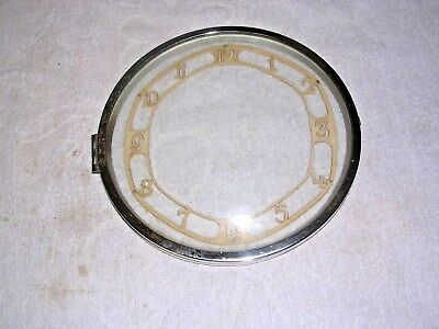 Clock  Parts ,  Chrome   Bezel  With  Chapter  Ring
