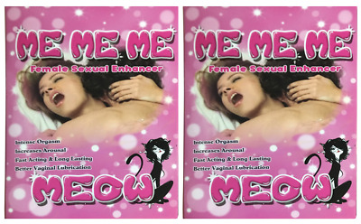 2 x Me Me Me Meow Female Woman Sexual Enhancer just $7.50 for 1 Pill NO SALE TAX