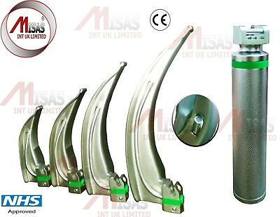 Fiber-Optic-Macintosh-Laryngoscope-Set-with-4-Blades-M