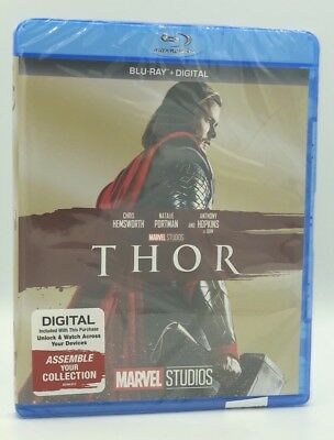 Thor (Blu-ray+Digital HD, 2017; Marvel Cinematic Universe Phase One) NEW