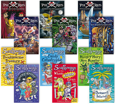 Pie Rats Series plus two Scallywags books by Cameron Stelzer. 8 book set.
