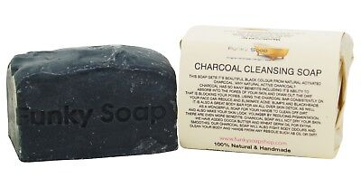 1 piece Charcoal Cleansing Soap Bar, 100% Natural Handmade, 120g