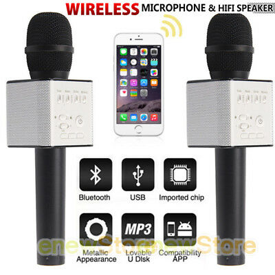 Q9 Wireless Microphone Speaker Bluetooth KTV Karaoke For iPhone Samsung Android