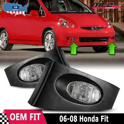 For Honda Fit 2006-2007 Factory Bumper Replacement Fit Fog Lights Clear Lens