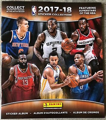 2017-2018 NBA PANINI - NBA Sticker Collection Albums BRAND NEW MINT VG+