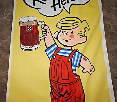 A&W ROOT BEER DENNIS THE MENACE  store fabric banner HUGE L@@k RARE A&W