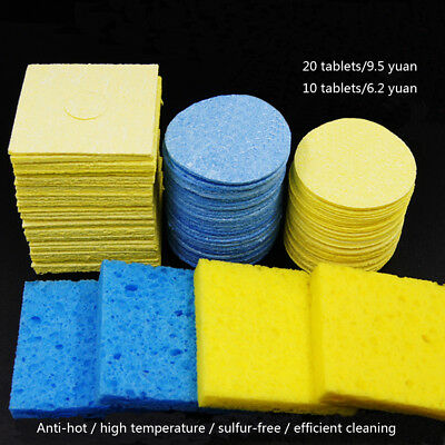10pcs Temperature Cleaning Sponge Pad Welding Soldering Iron Sponge Tip Cleaner