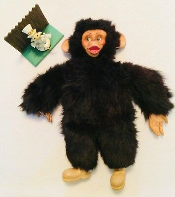 "RARE VINTAGE 24"" J. FRED MUGGS Plush Stuffed Monkey - Blue Ribbon ..."
