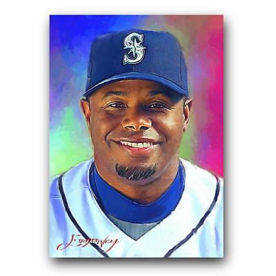 32e541c731 KEN GRIFFEY JR #40 Sketch Card Limited 24/50 Edward Vela Signed ...