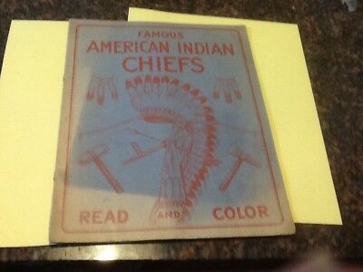 Famous American Indian Chiefs Read And Color Book
