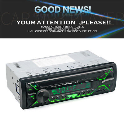 Bluetooth Auto Stereo Radio Audio MP3 Player FM USB SD AUX 1 DIN 7-Farben LED 1x