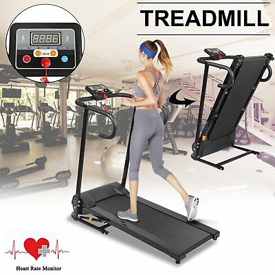 600W Motorised Electric Treadmill Folding Running Machine Fitness Gym Exercise