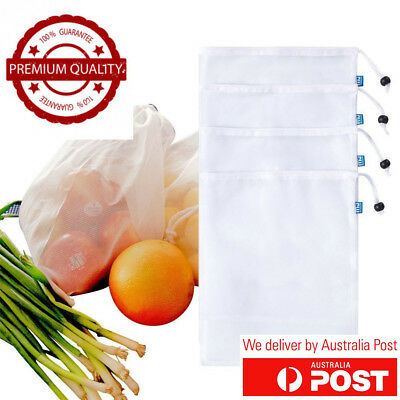 Genuine NXET Eco Mesh Reusable Produce Bags Fruit & Vegetable Grocery Fridge AU