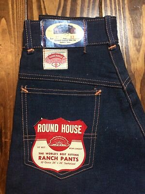 Very RARE Women's Vintage ROUND HOUSE Ranch Pants Original Tags Size 12 - 22X28