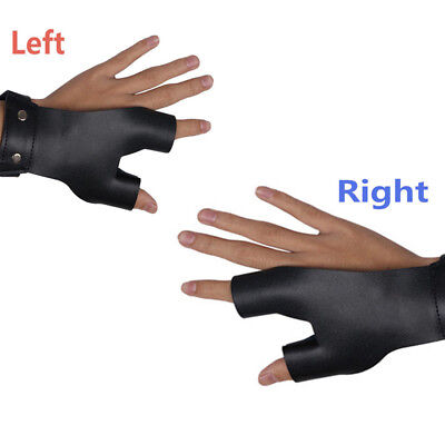 Cow Leather Archery Hunting Hand Protector Gear Guard Shooting Glove Black SW1