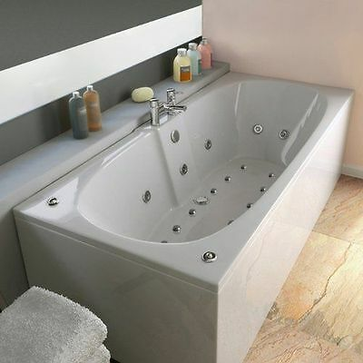 Chelsea 23 Jet Double Ended Whirlpool Spa Bath 1700x750mm | Jacuzzi Spa White